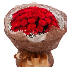 빨강장미안개꽃다발