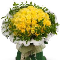 노랑장미 꽃다발(50송이)