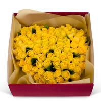 노랑장미꽃박스(50송이)
