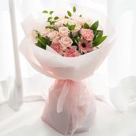 핑크장미 혼합꽃다발