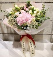 핑크수국꽃다발55