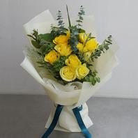심플노랑장미꽃다발